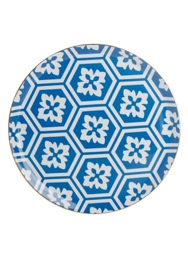 Porland Morocco Düz Tabak Desen2 Mavi 28cm Mavi